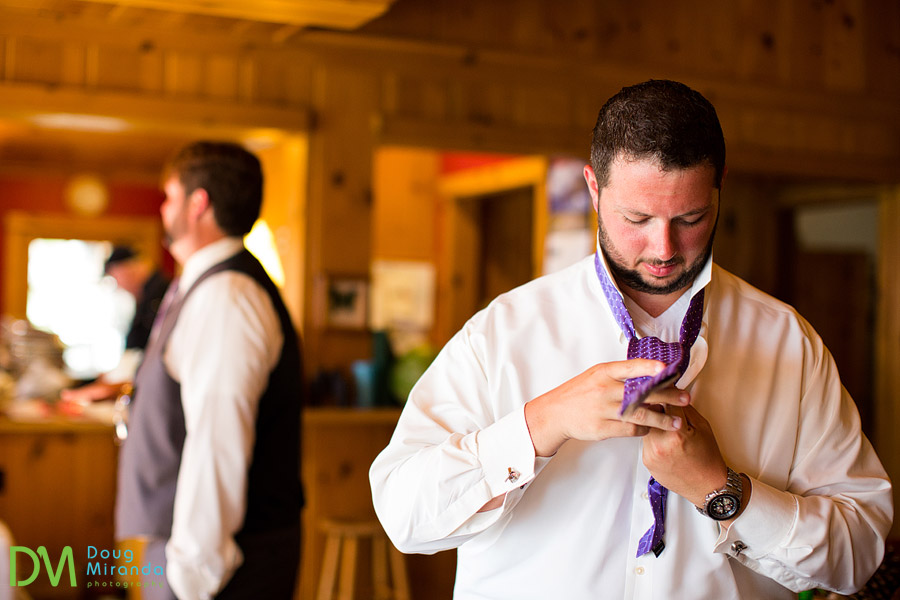 getting ready for his wedding