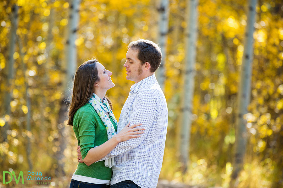 grace and clint during their fall engagement session