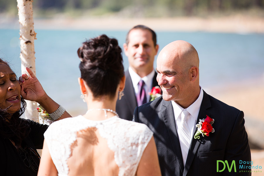 summer time wedding in lake tahoe