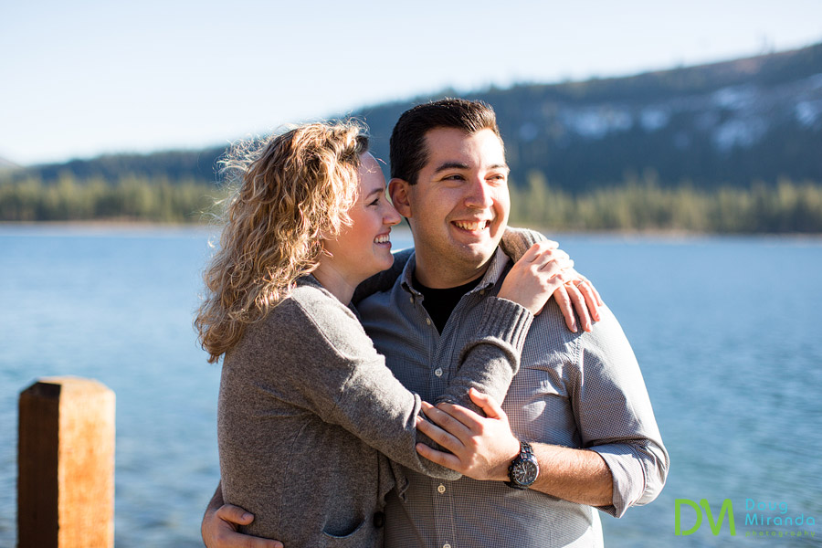 donner lake engagement session