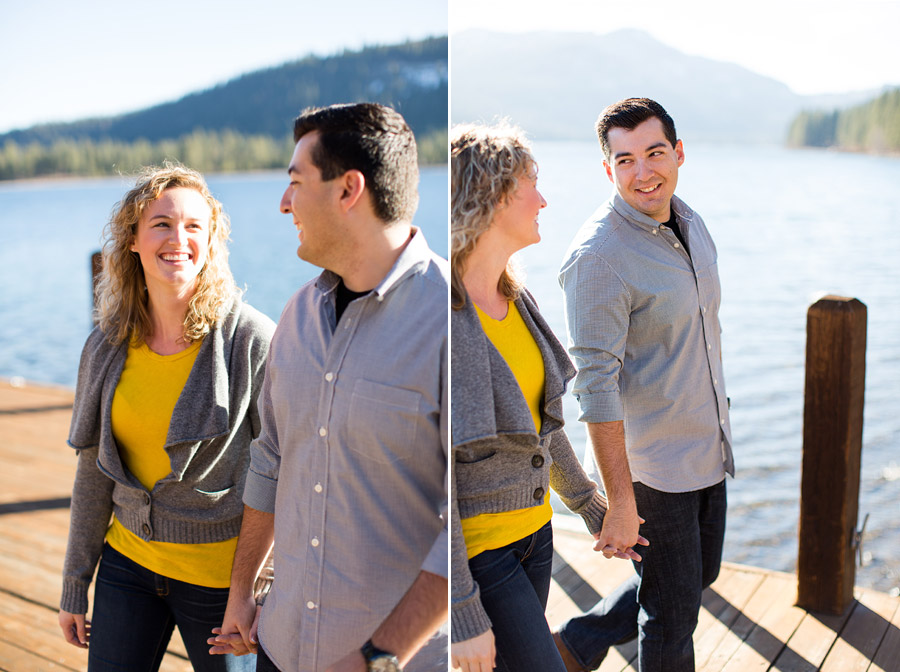 donner lake engagement photos