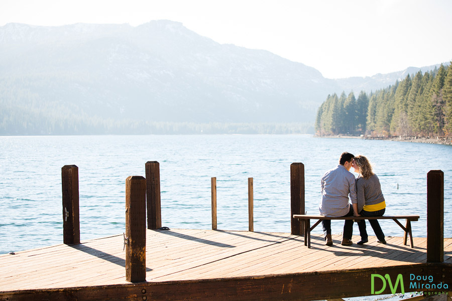 donner lake engagement photography