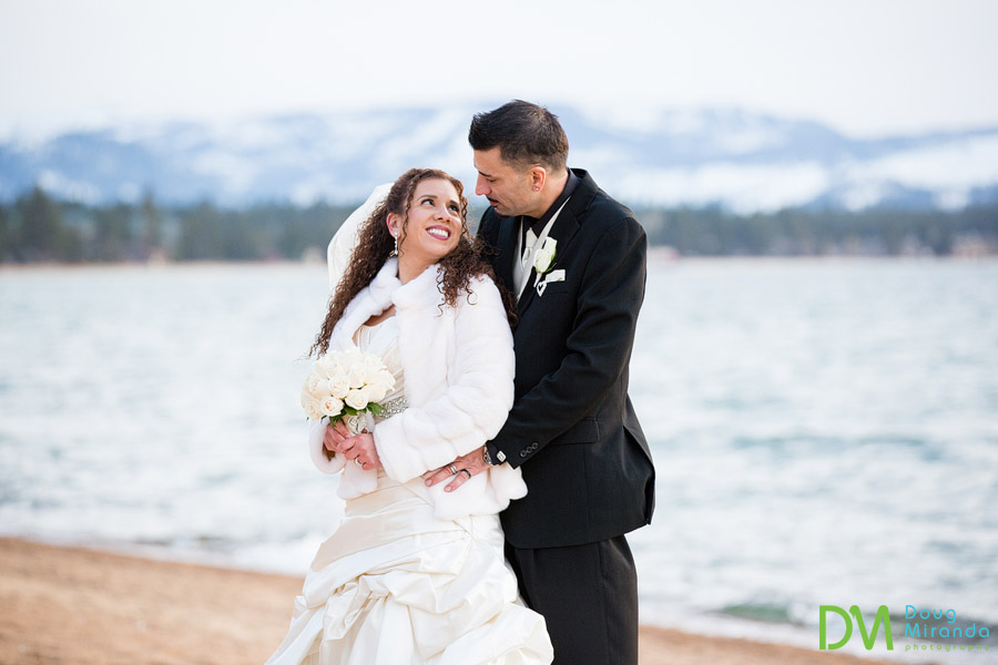 winter wedding lake tahoe