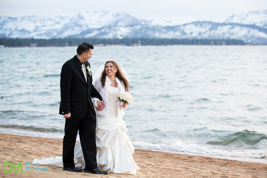 lake tahoe winter wedding photography