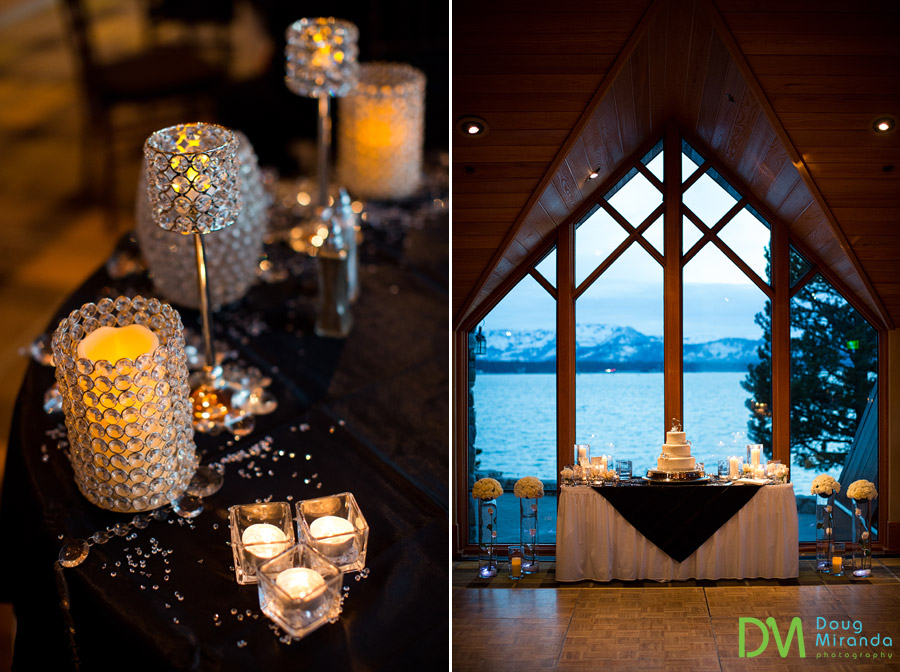 Edgewood Tahoe winter wedding photos