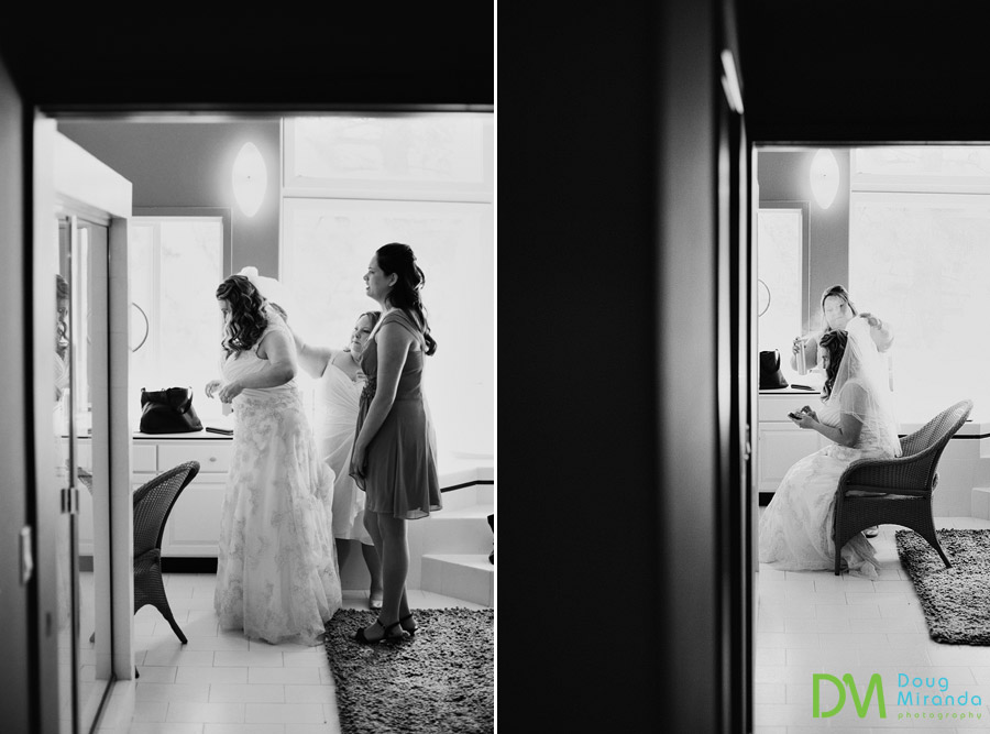 a bride getting ready for her ceremony