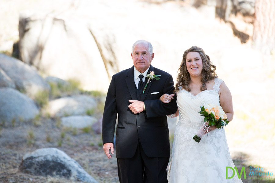 a bride and her dad together