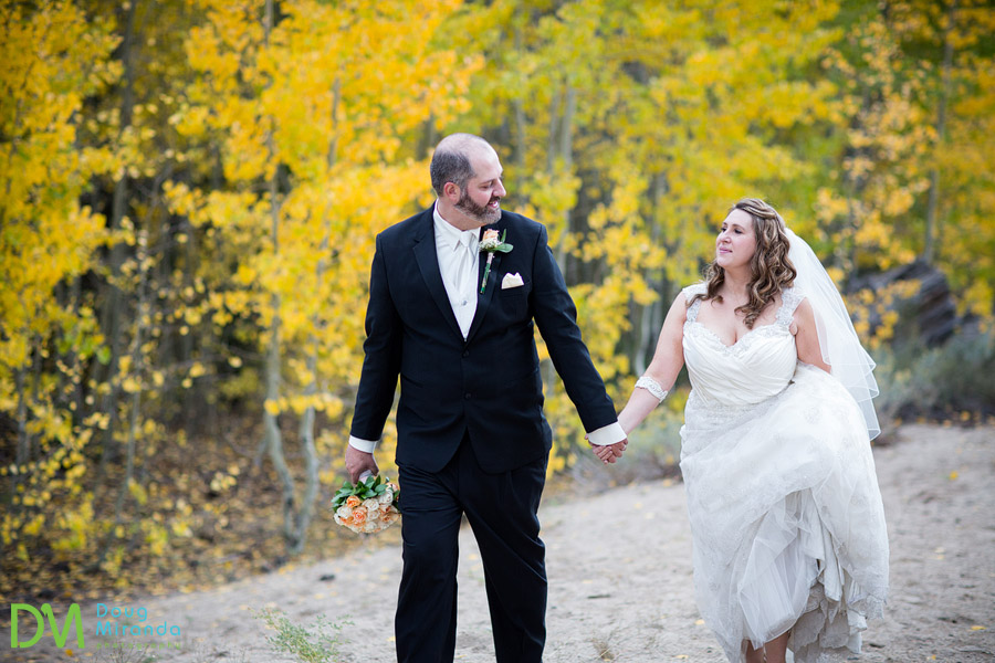 Lake tahoe fall wedding photos