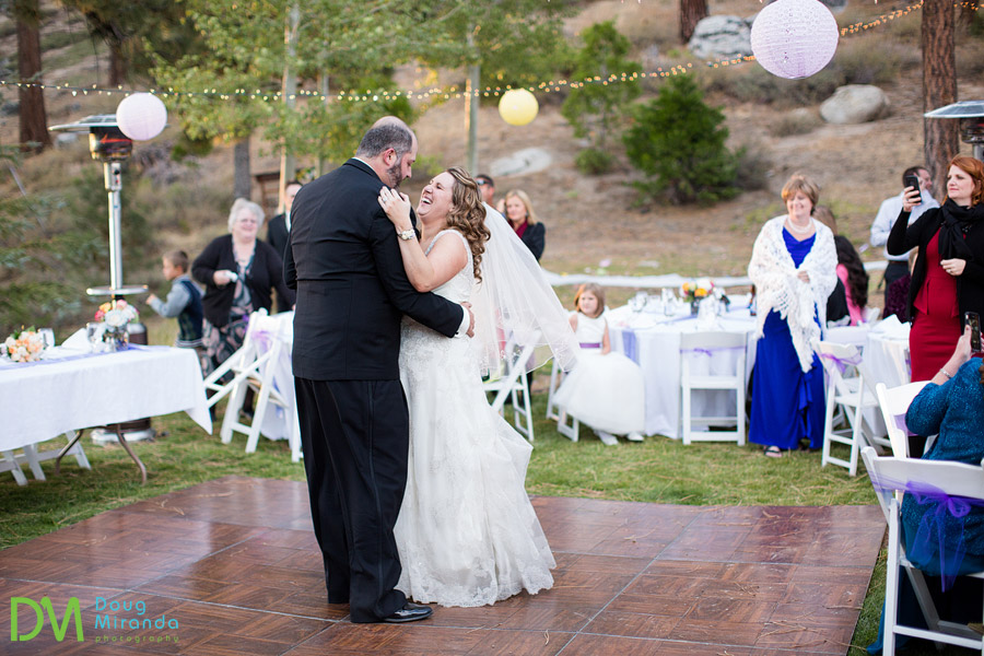 lake tahoe first dance at wedding reception