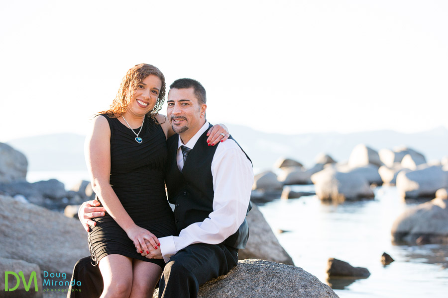 south lake tahoe winter engagement photography