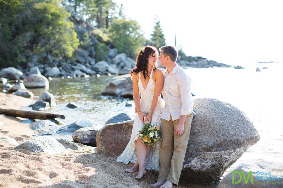 lake tahoe beach wedding photography