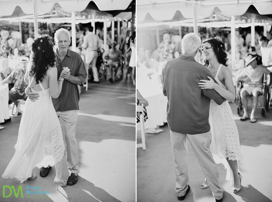 father daughter dance at her round hill pines beach wedding