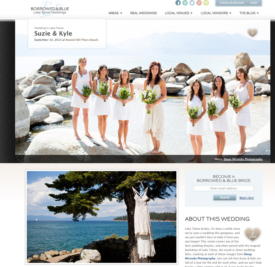 round hills pines beach wedding photos