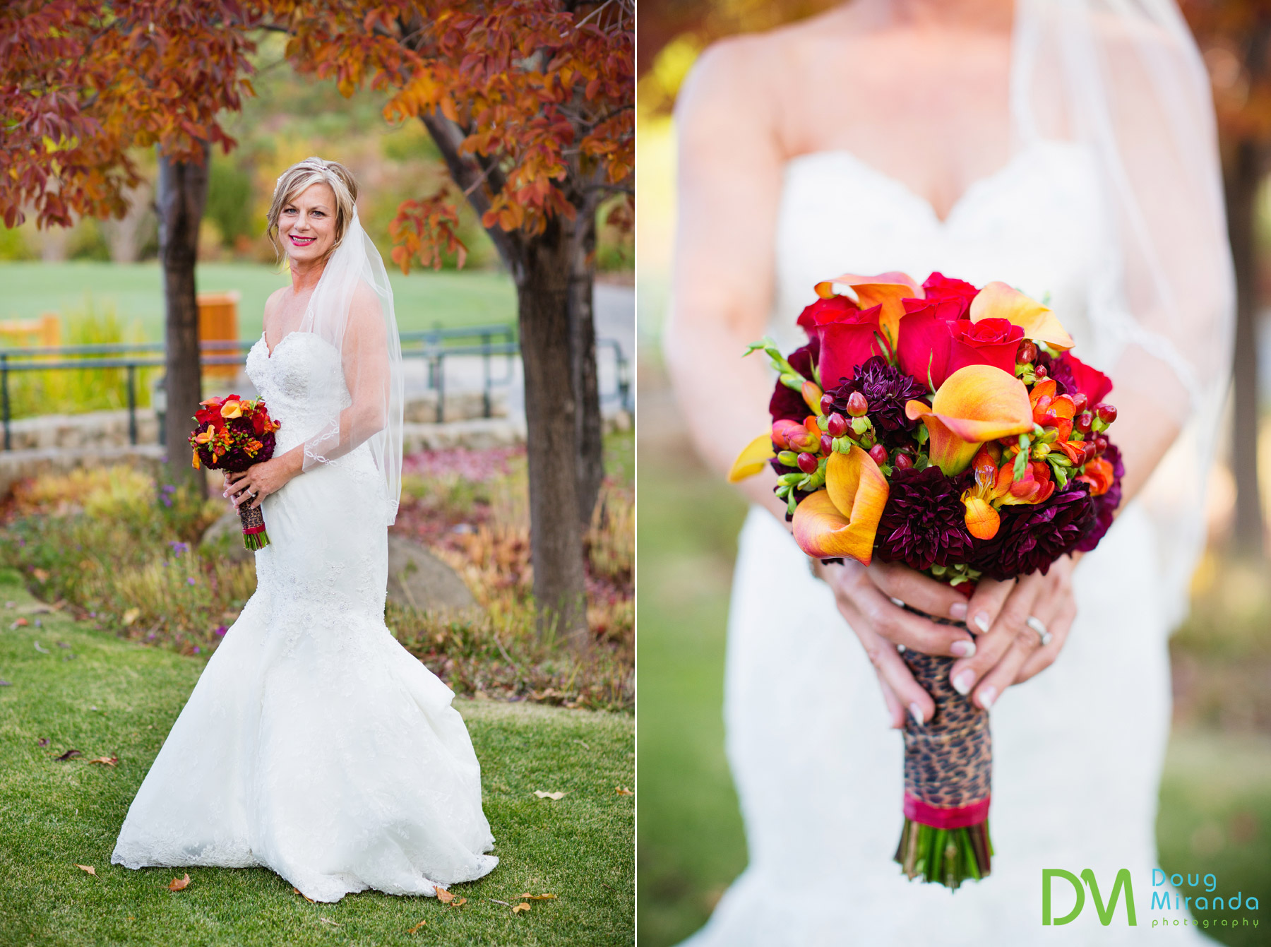 fall wedding flower photos