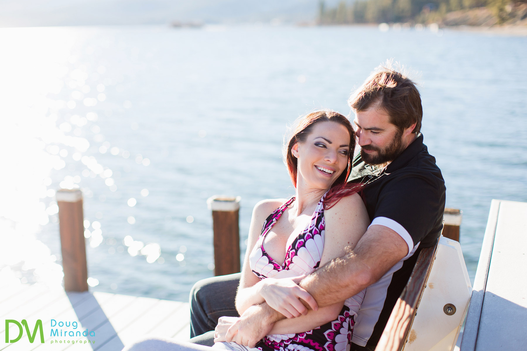 tahoe city engagement photos