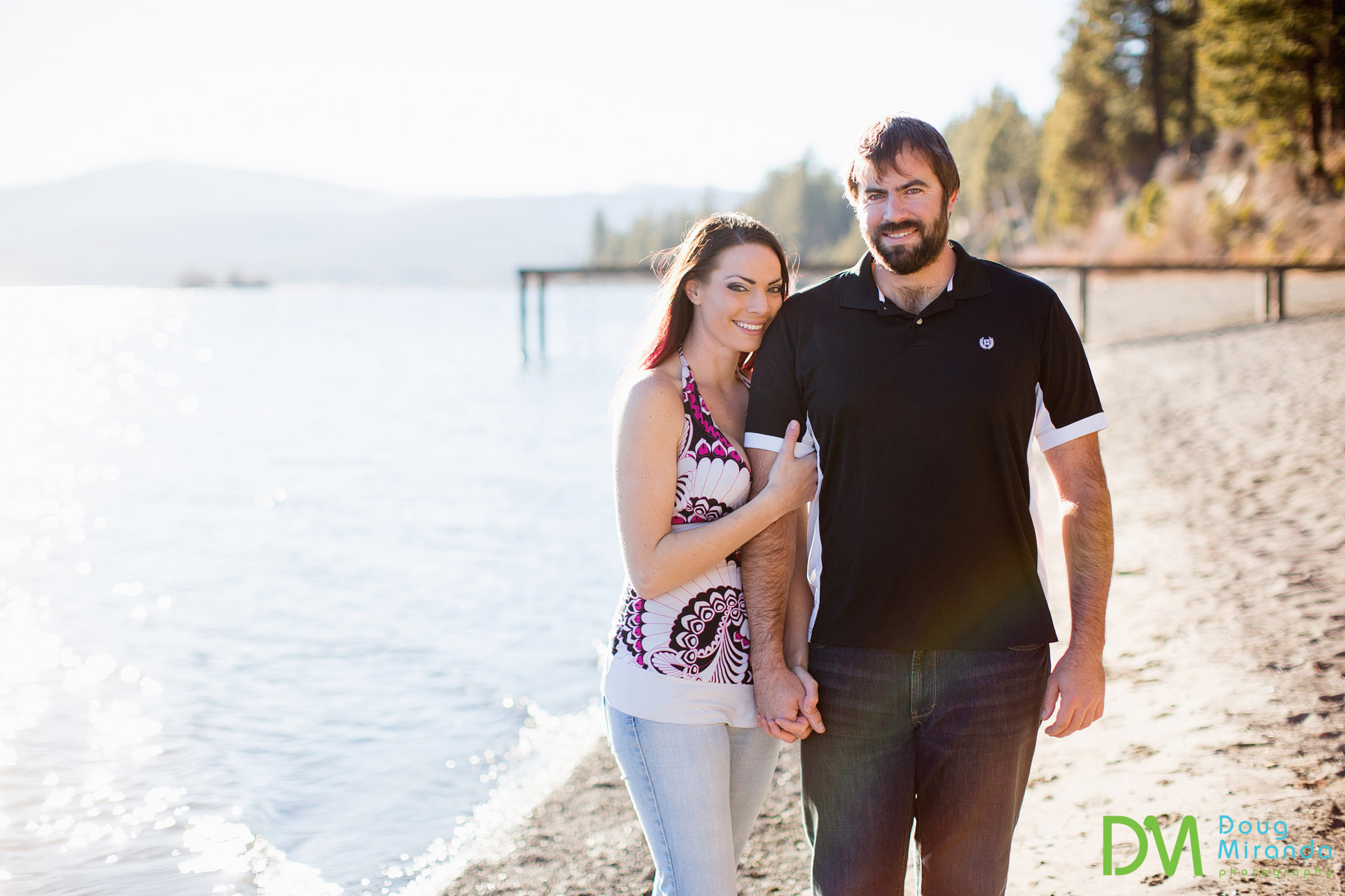 fun lake tahoe engagement photos