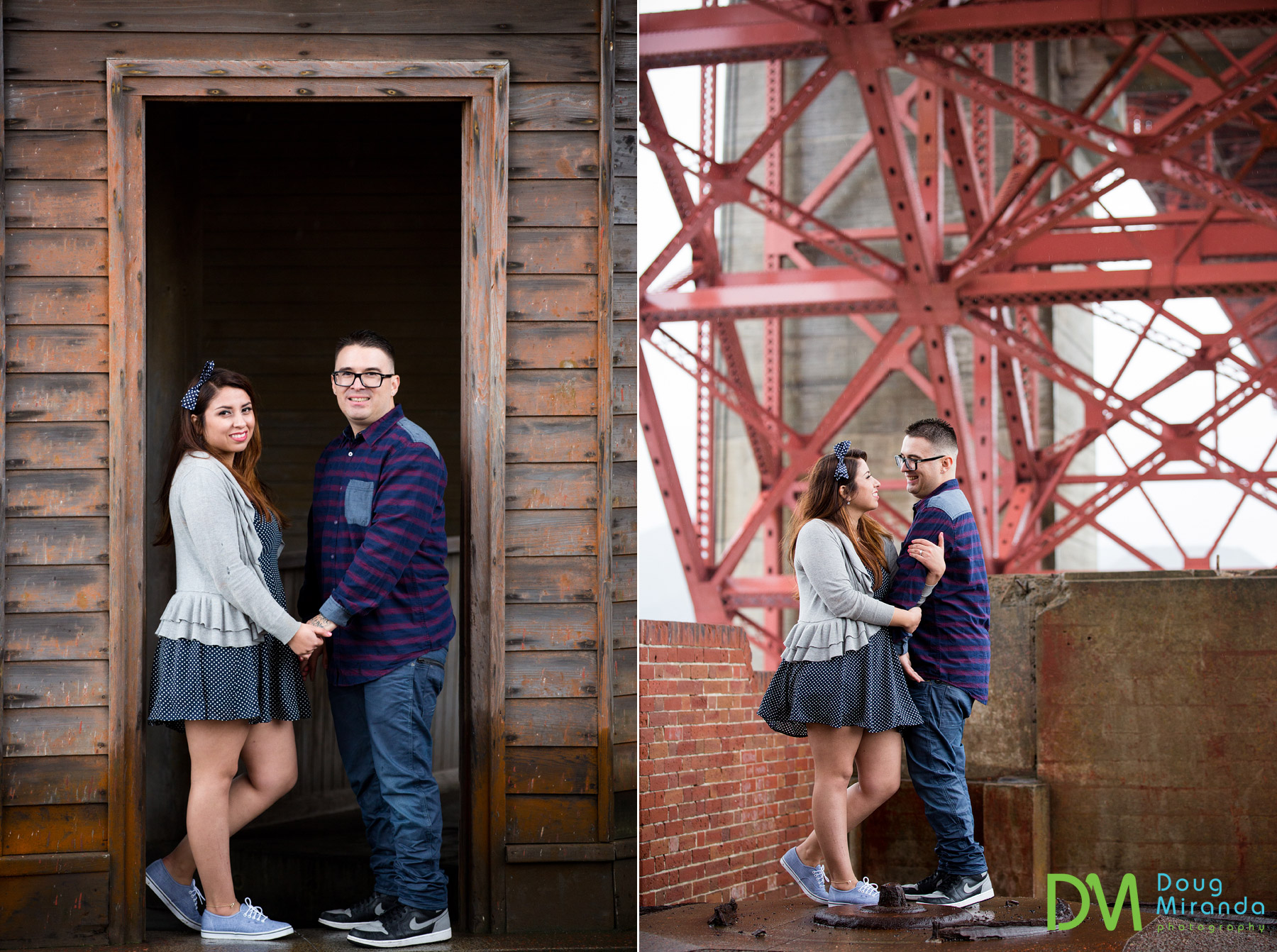 fort point engagement photography