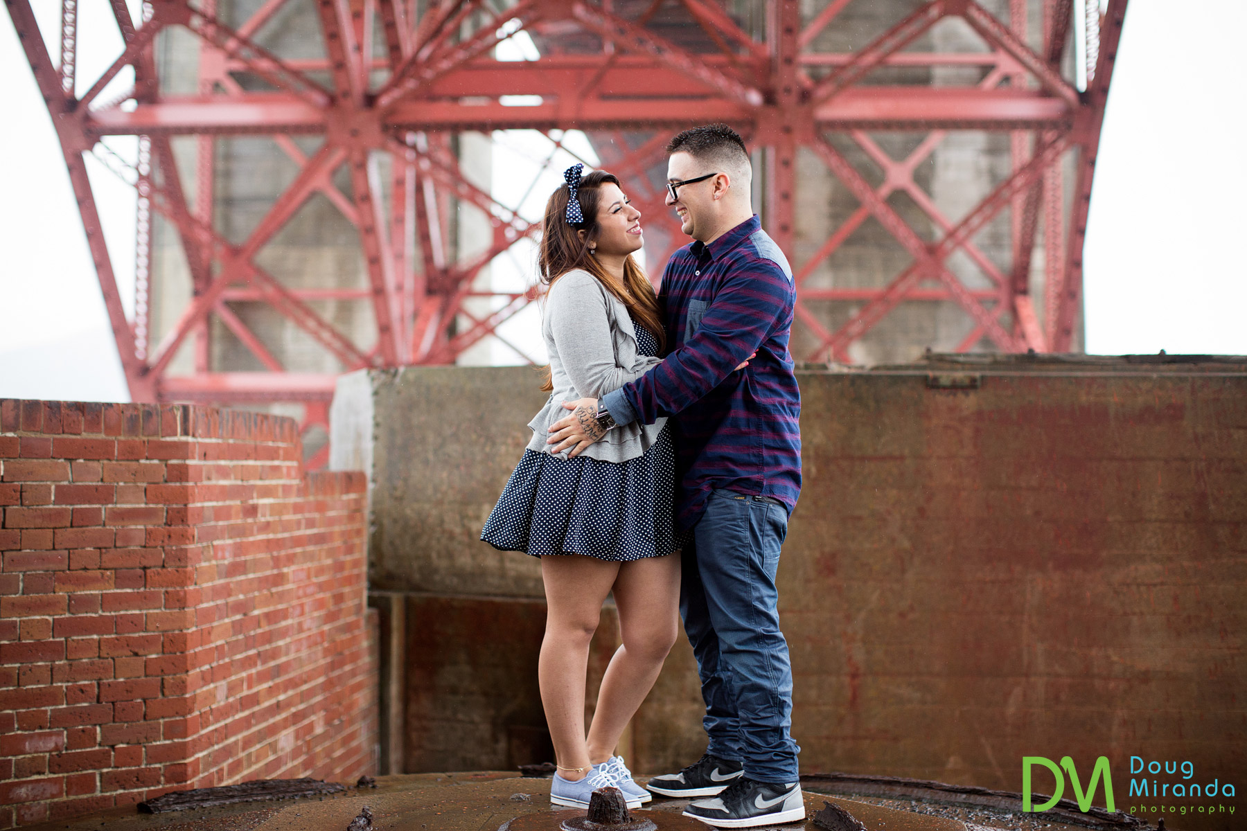 fort point engagement photos
