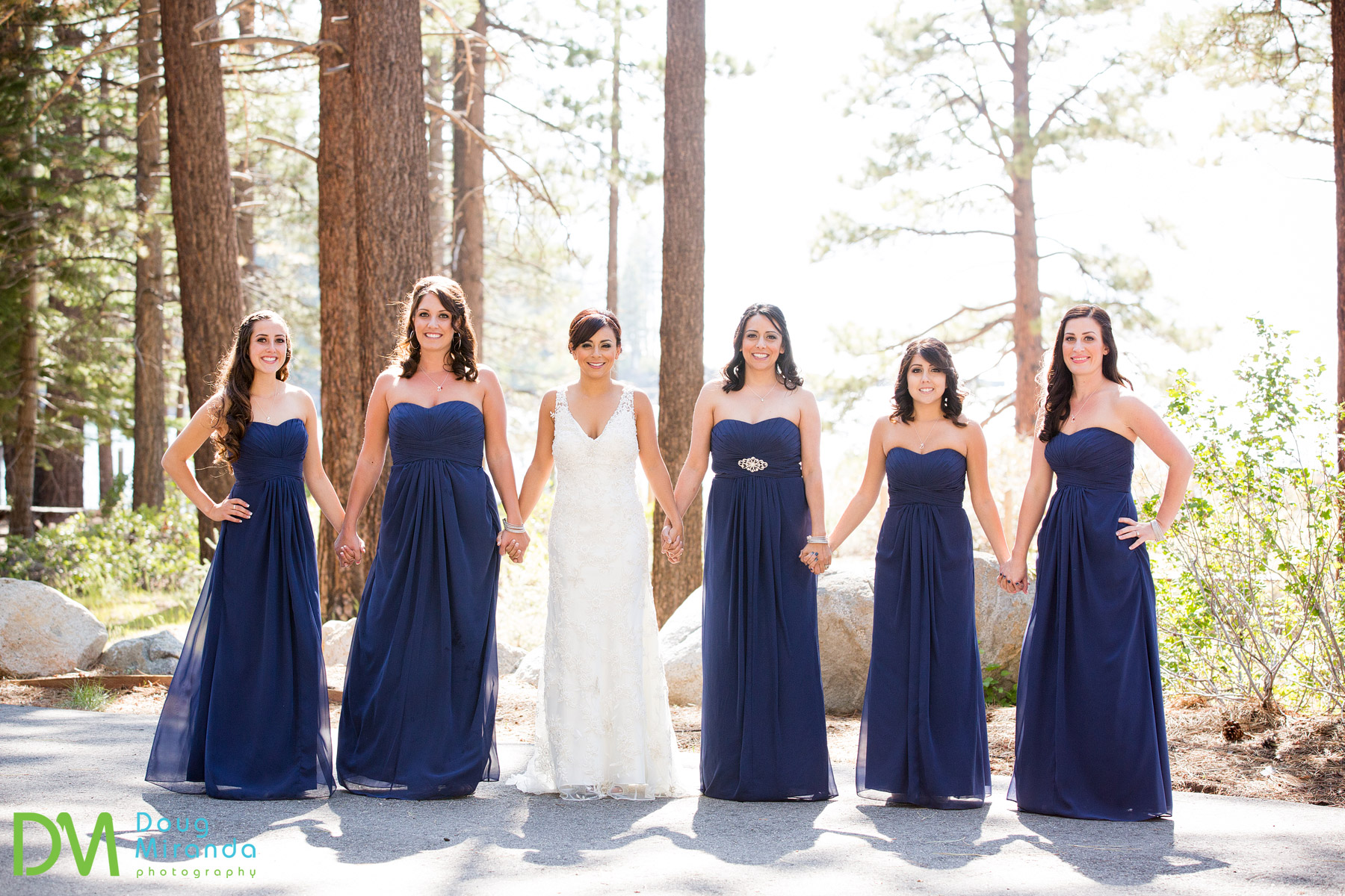 lake tahoe bridal party photos