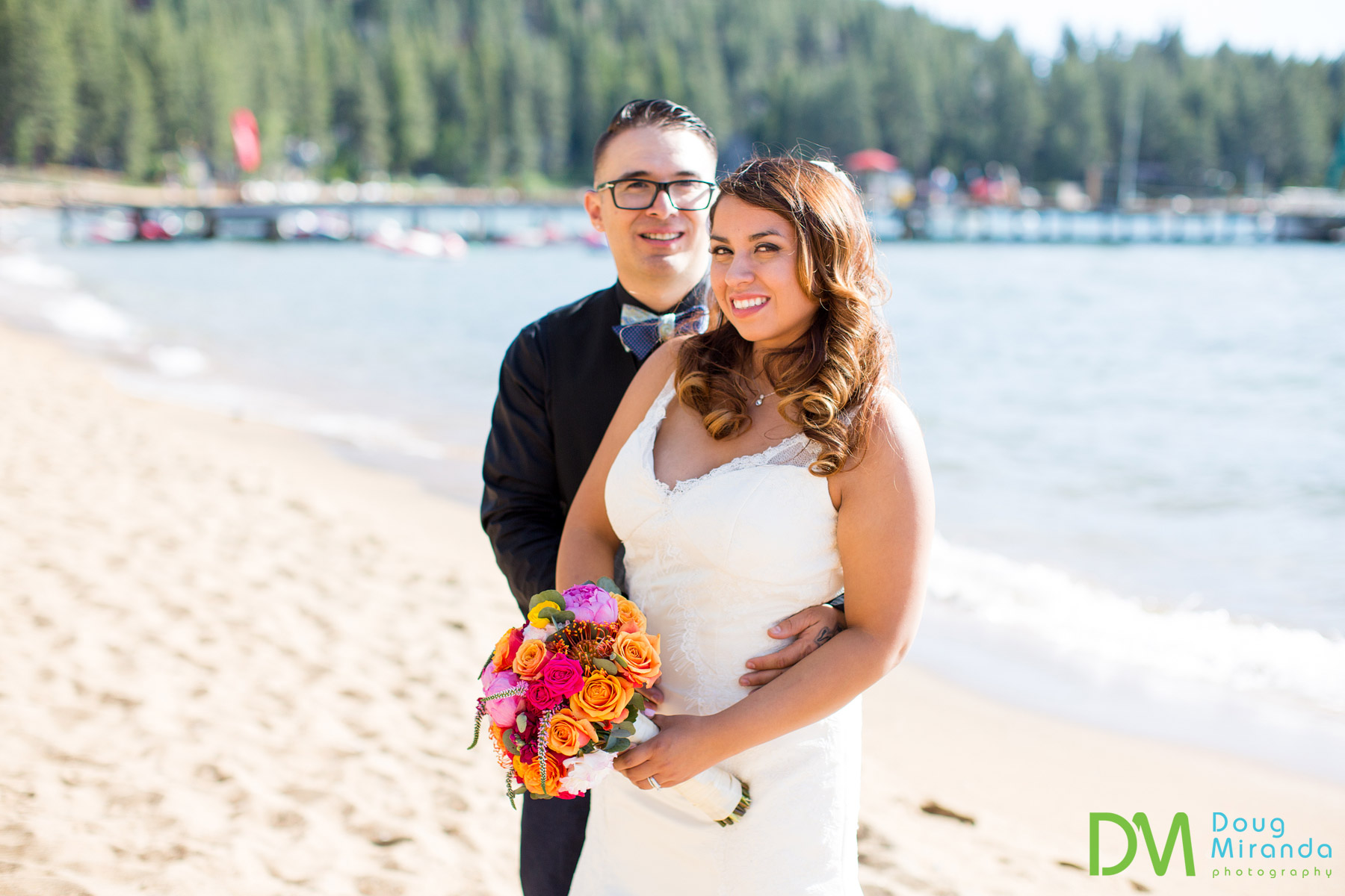 south lake tahoe beach weddings