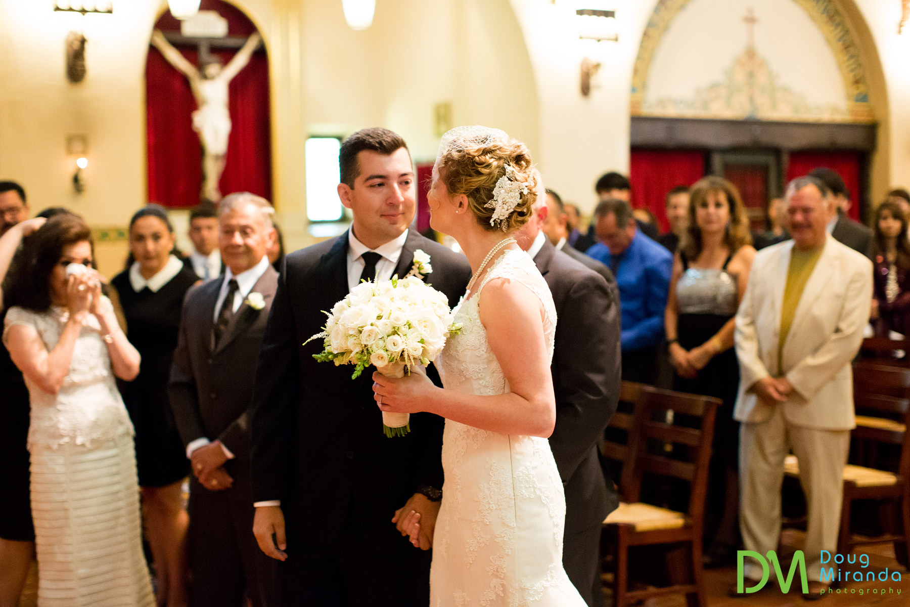 wedding photos of a santa clara university
