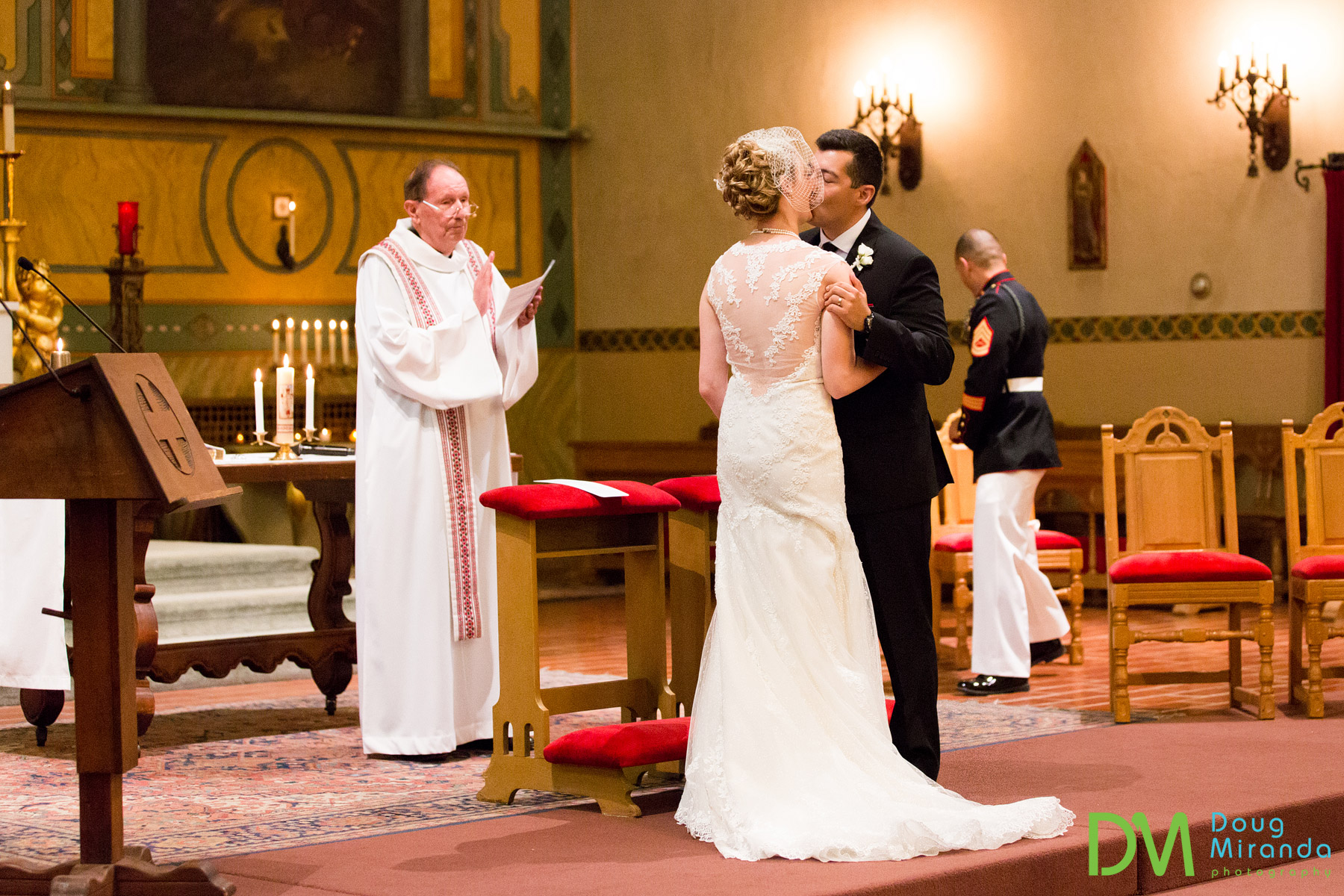 santa clara university mission church wedding ceremony