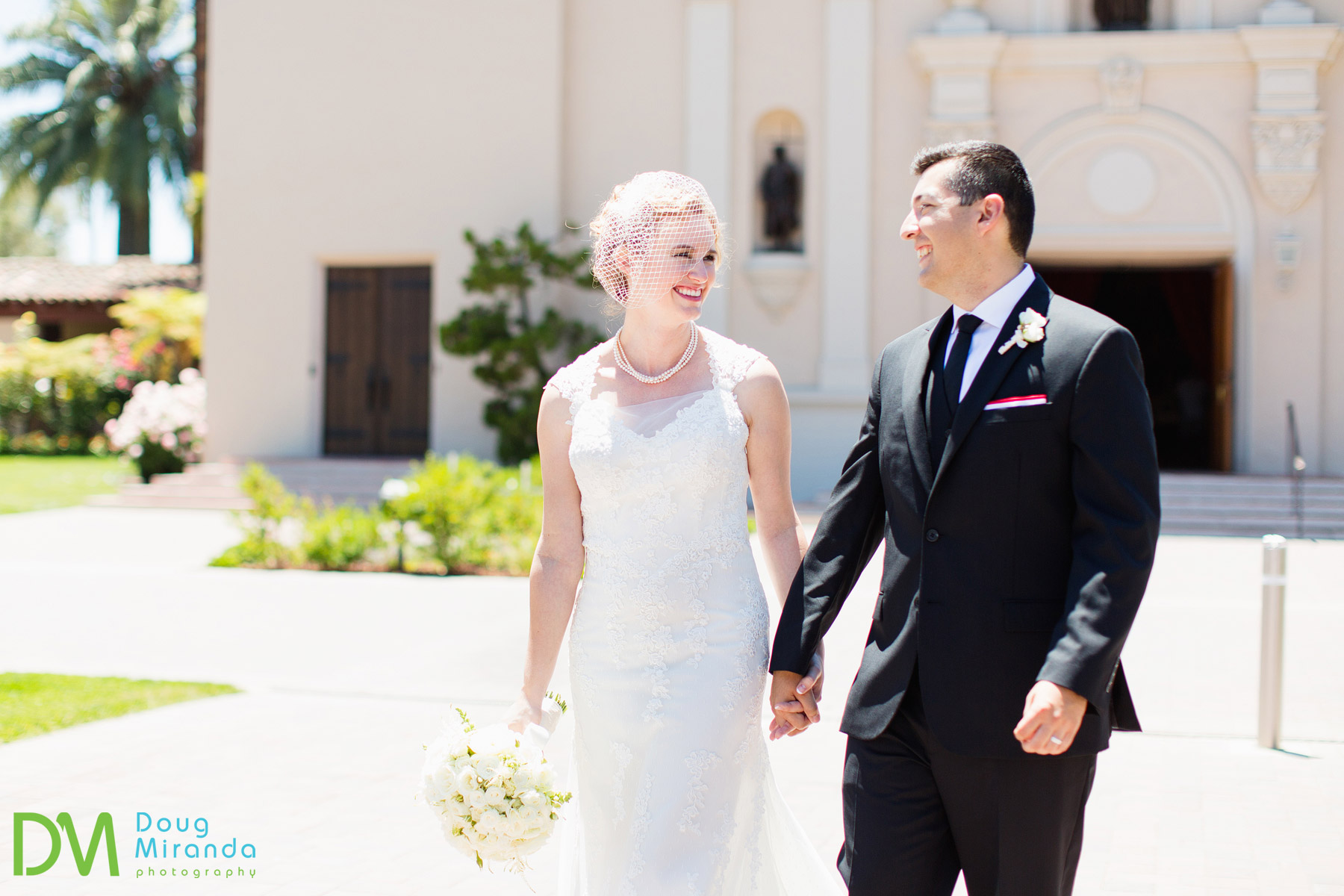 santa clara university mission church wedding photos