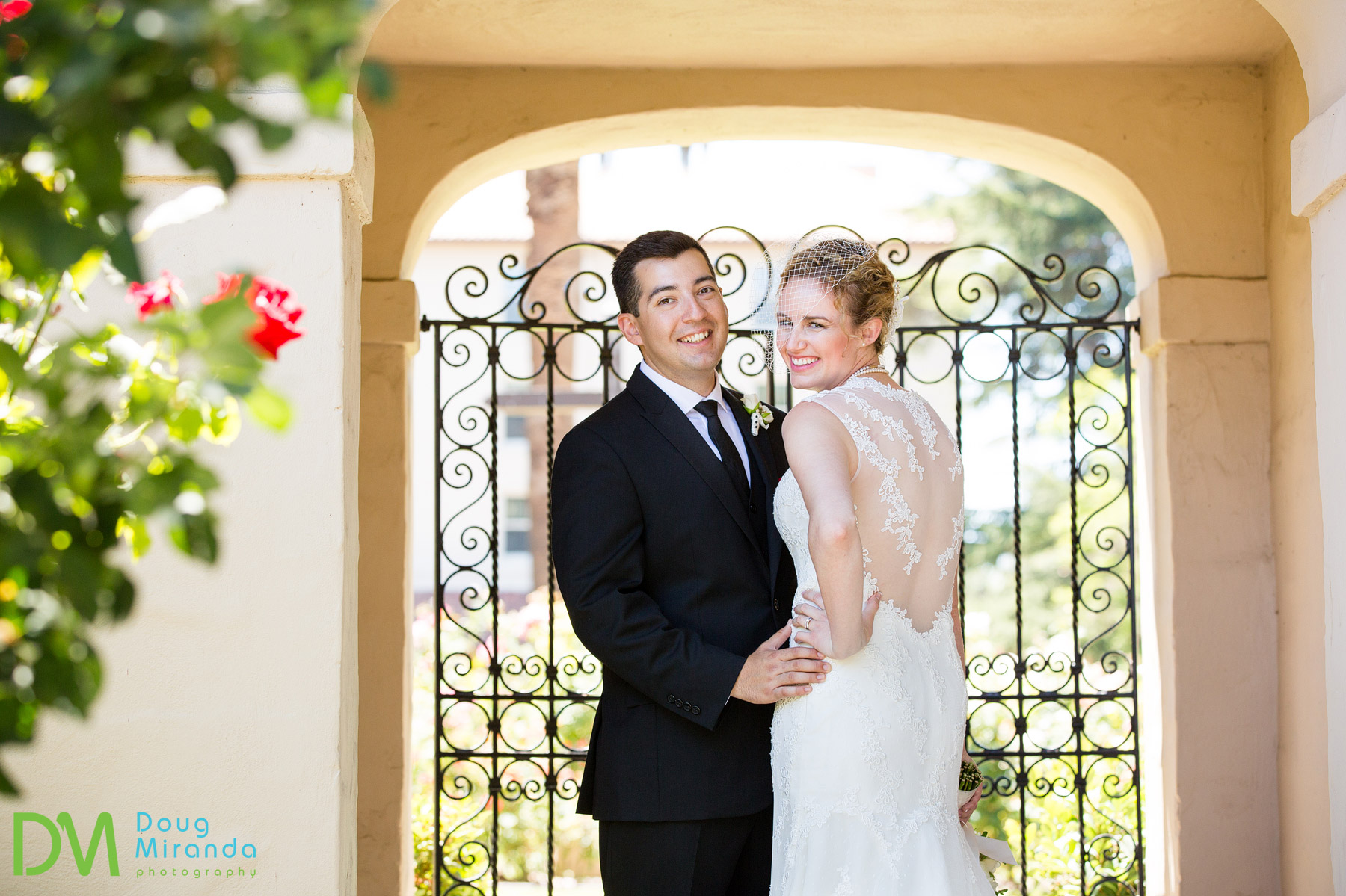 santa clara university wedding photos