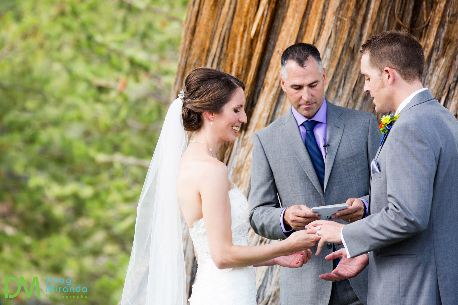 wedding ceremony at tahoe paradise park