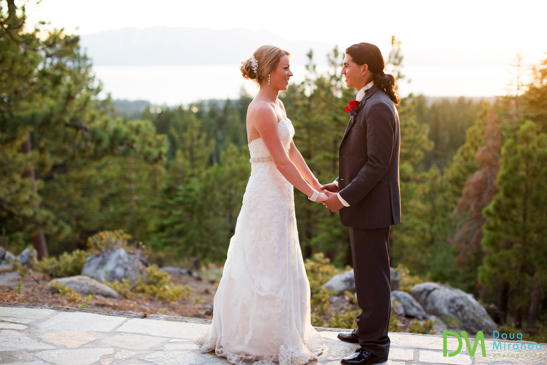 south lake tahoe private estate wedding