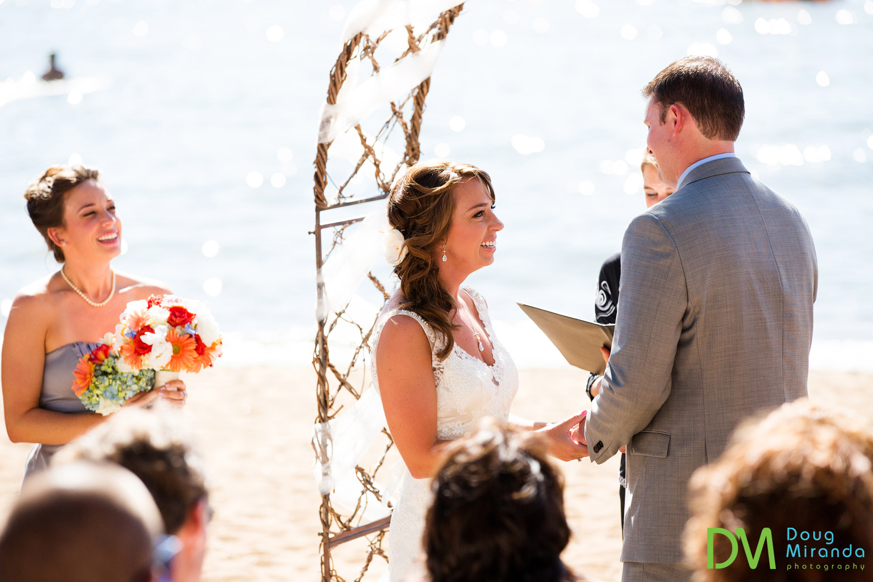lake tahoe wedding ceremony on the beach