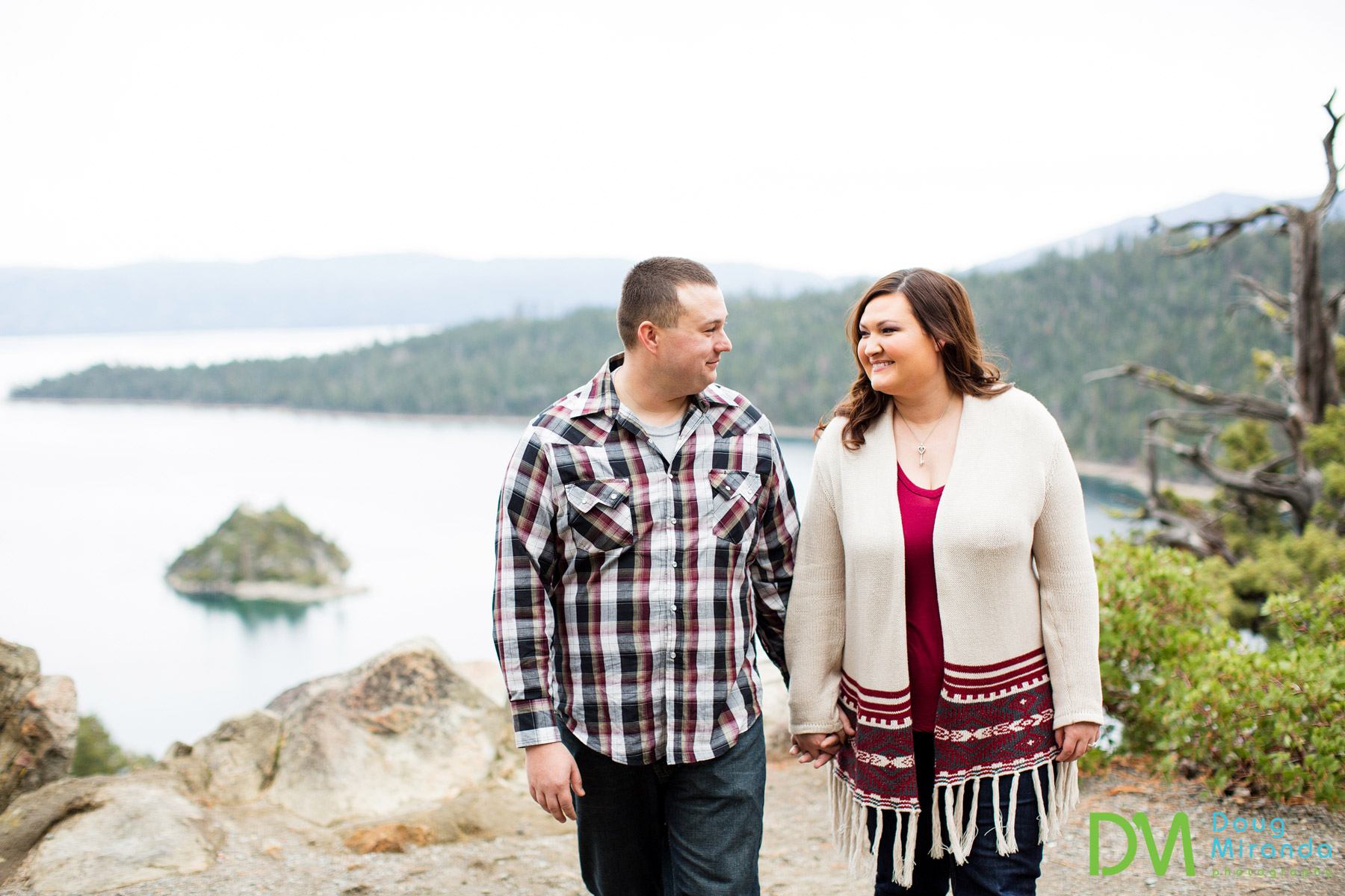 emerald bay engagement photography