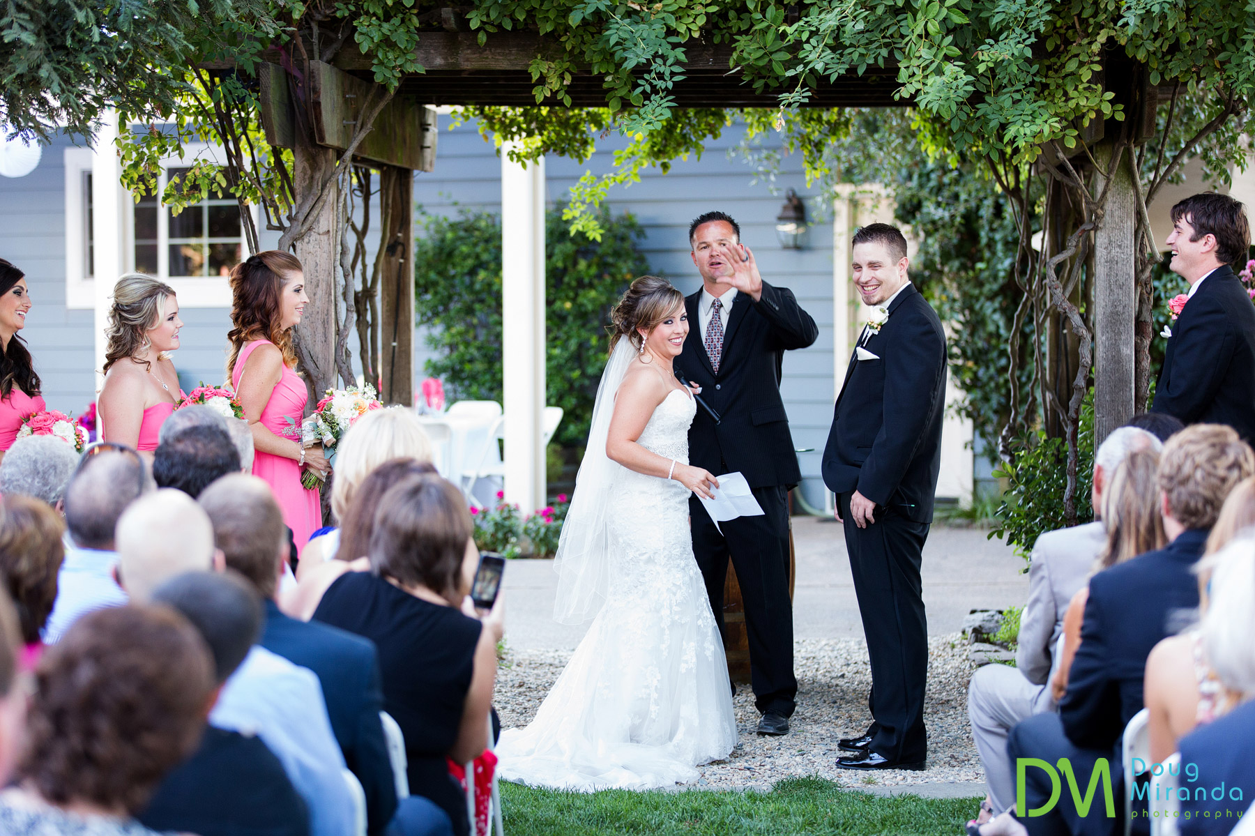 harmony wynelands wedding ceremony