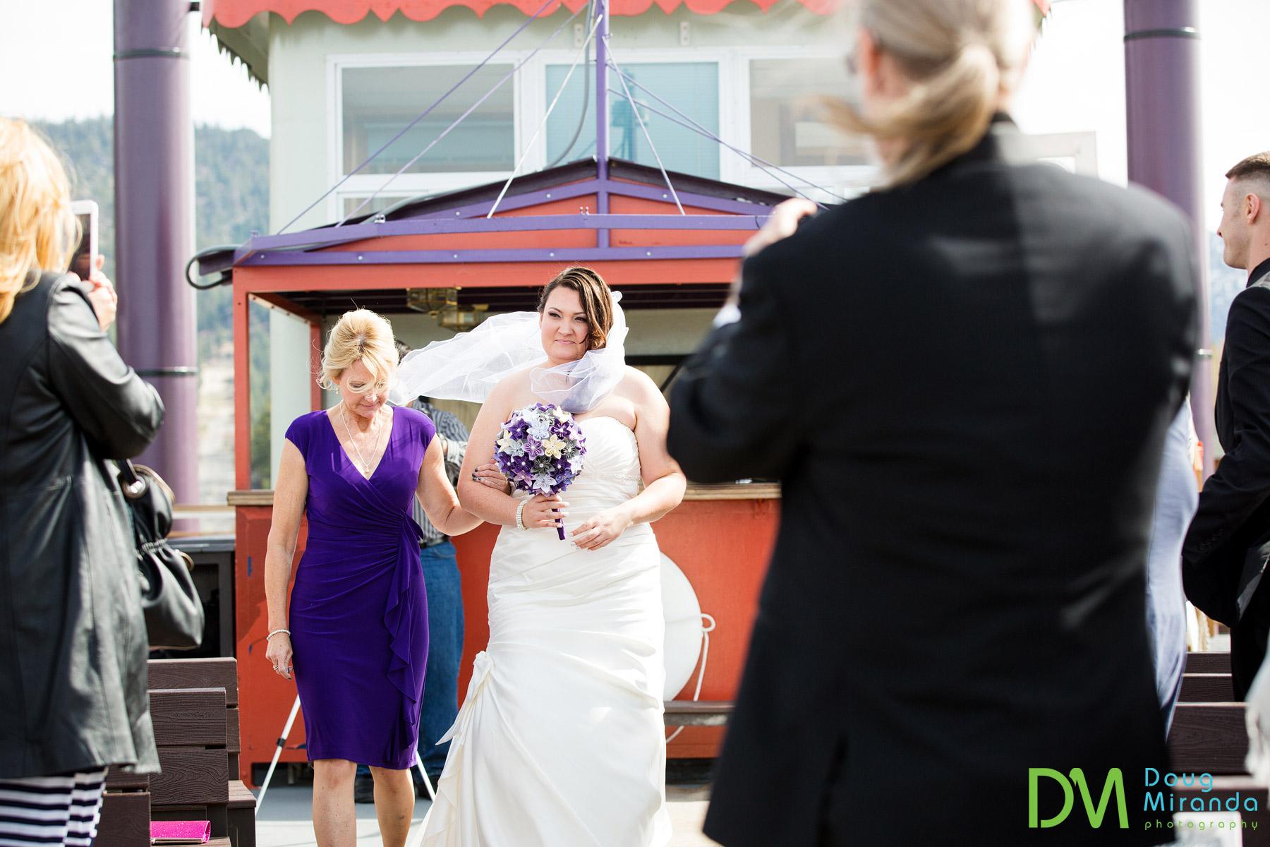 wedding ceremony tahoe queen