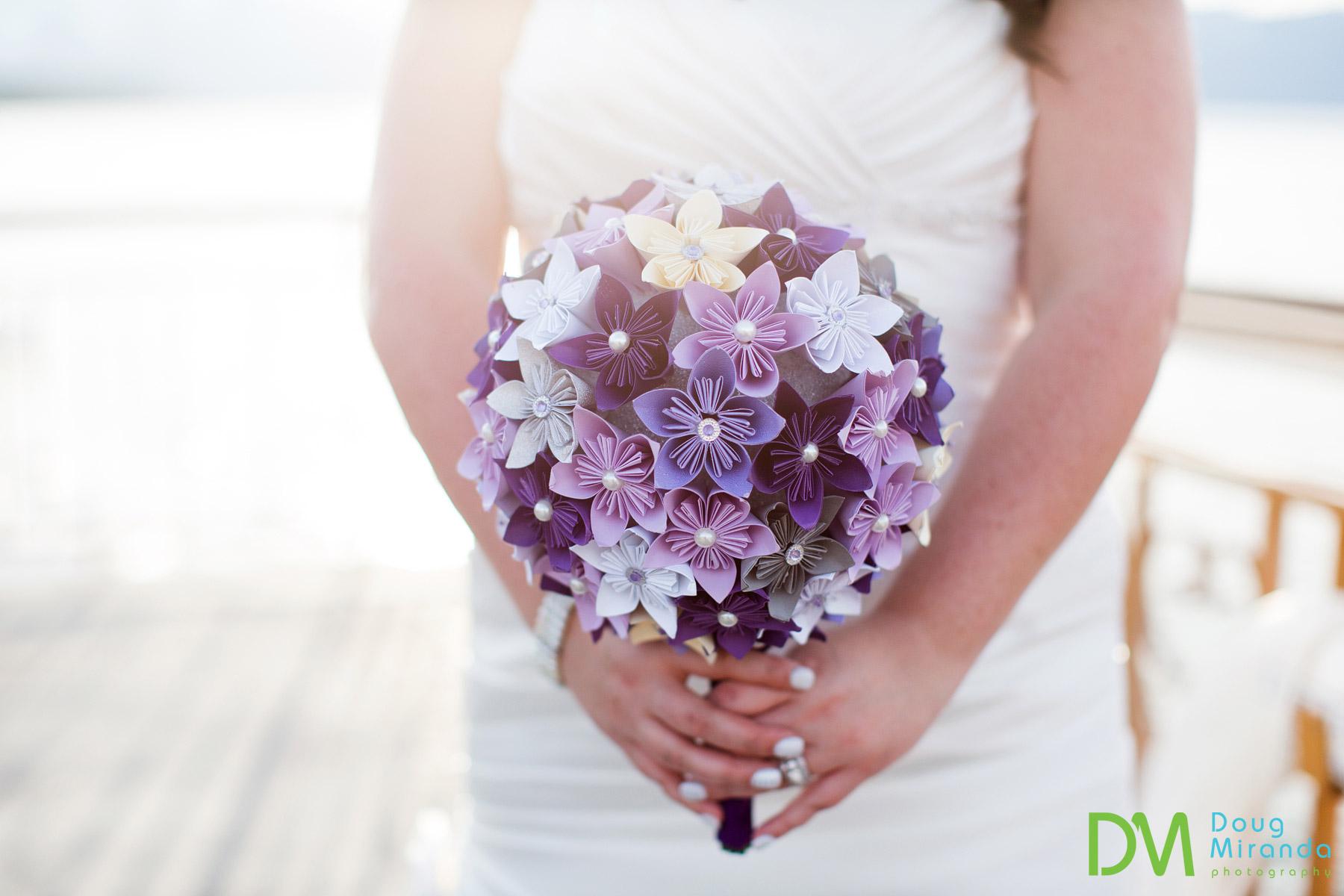 origami wedding bouquet photos