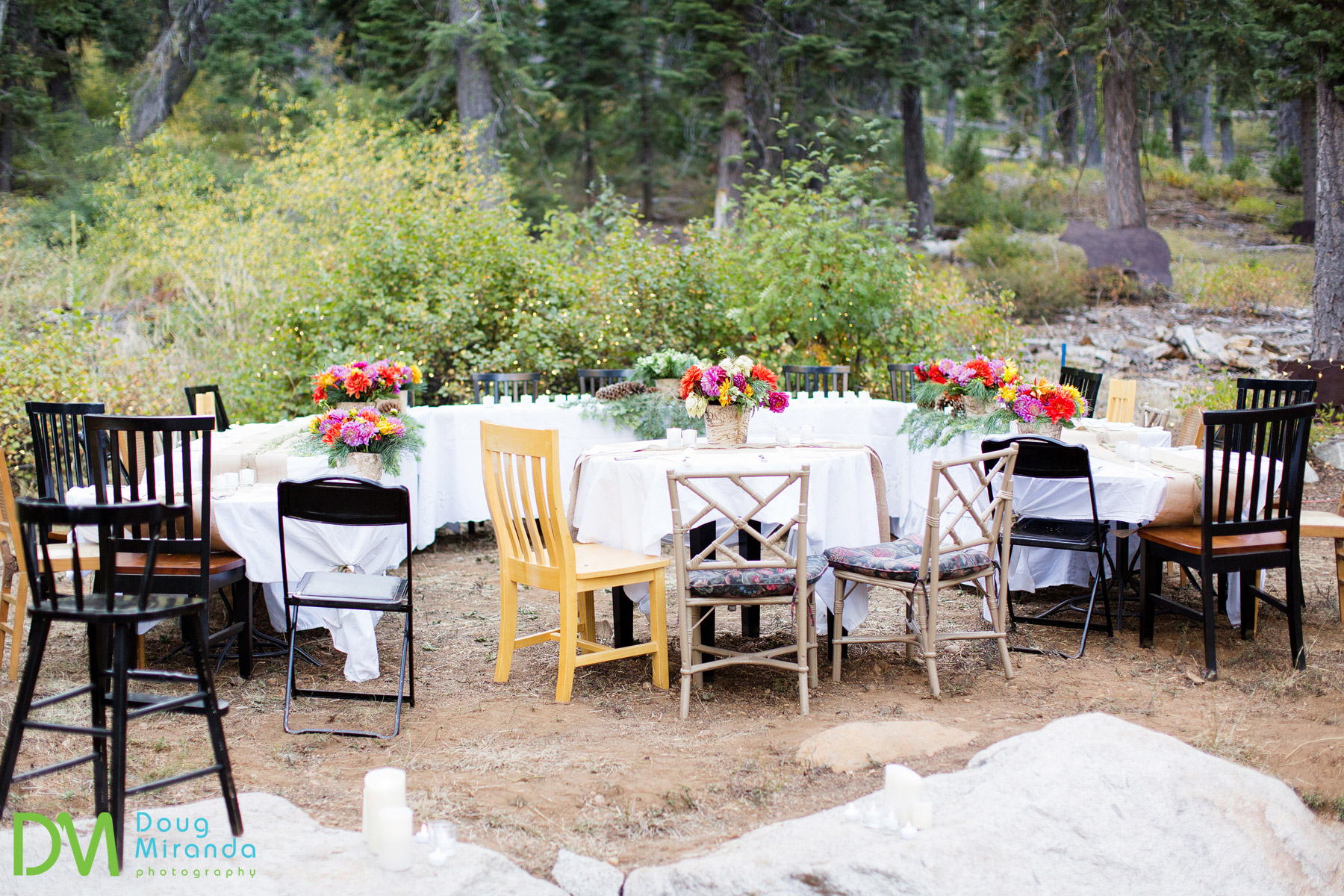 lake tahoe backyard wedding
