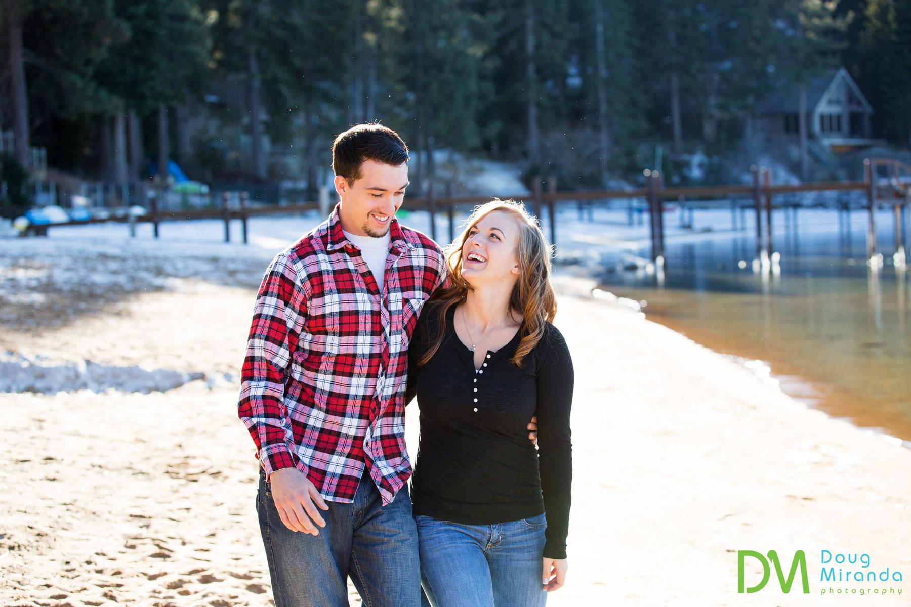 lake tahoe winter engagement photographers