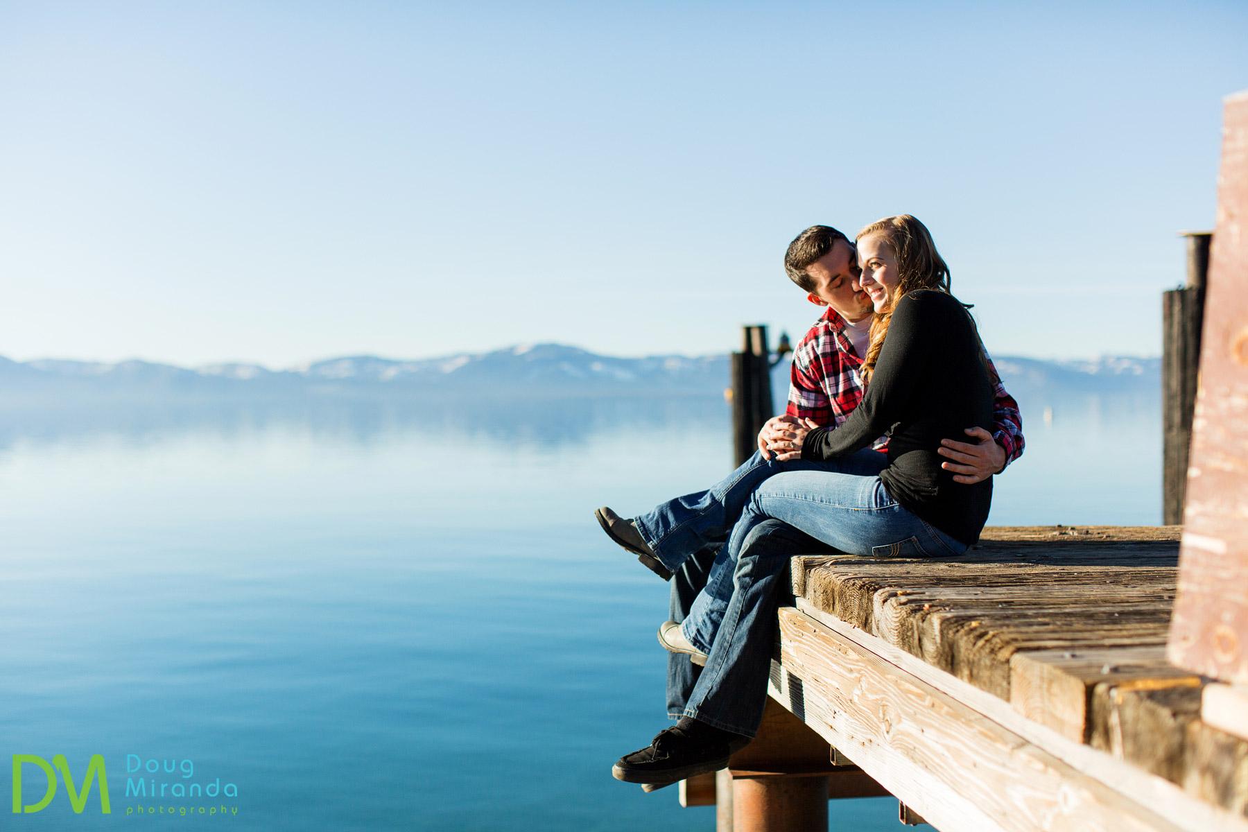 winter engagement lake tahoe
