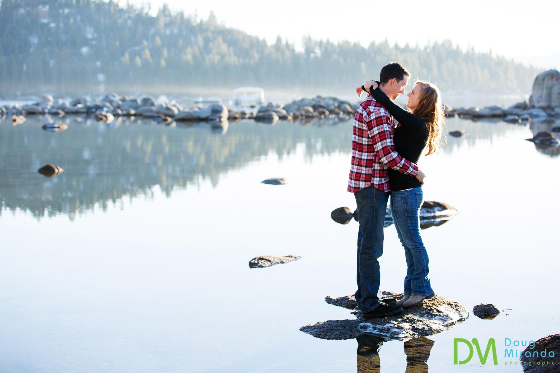 Lake tahoe winter wedding photos