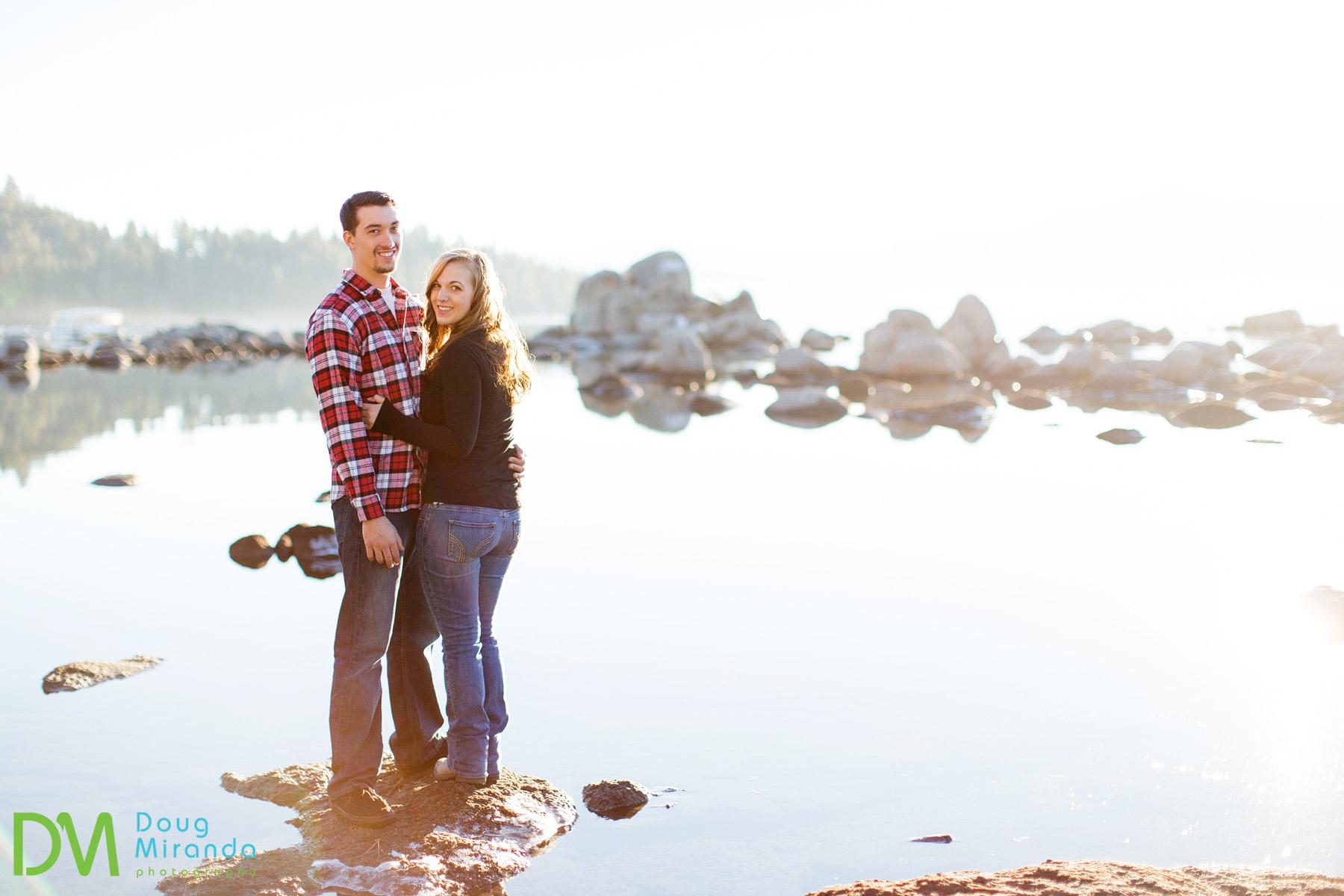 winter engagement photos lake tahoe