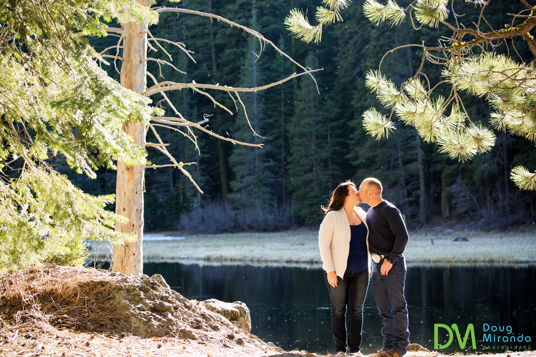 Truckee river engagement photography