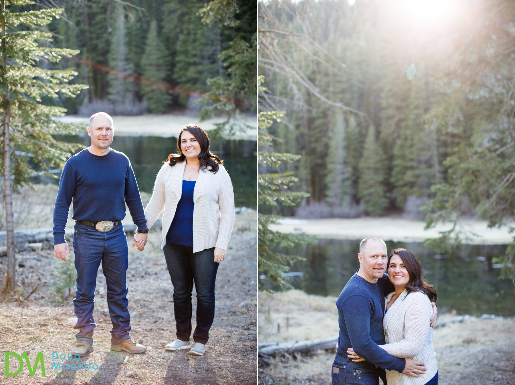 truckee river engagement session