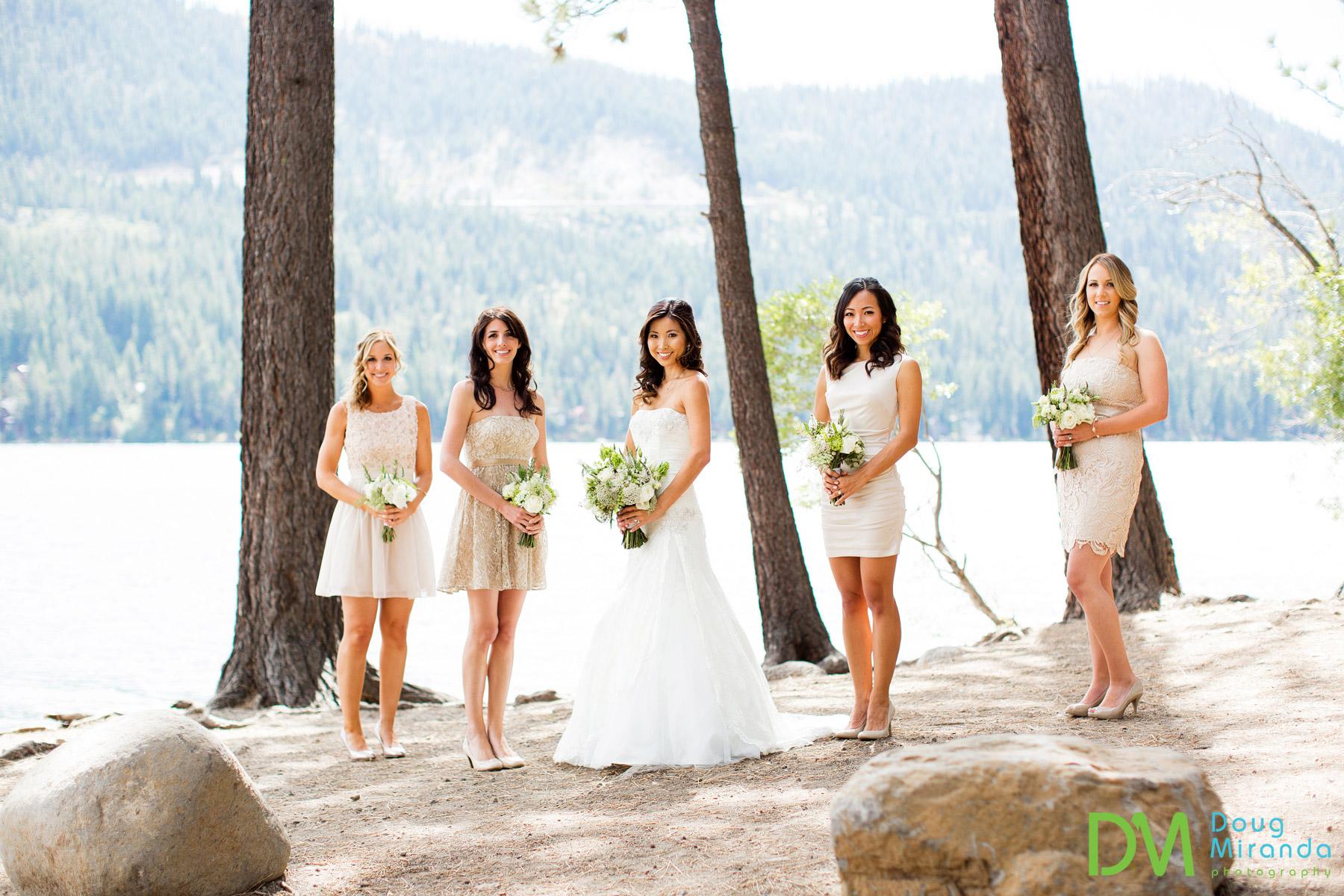 donner lake wedding photos