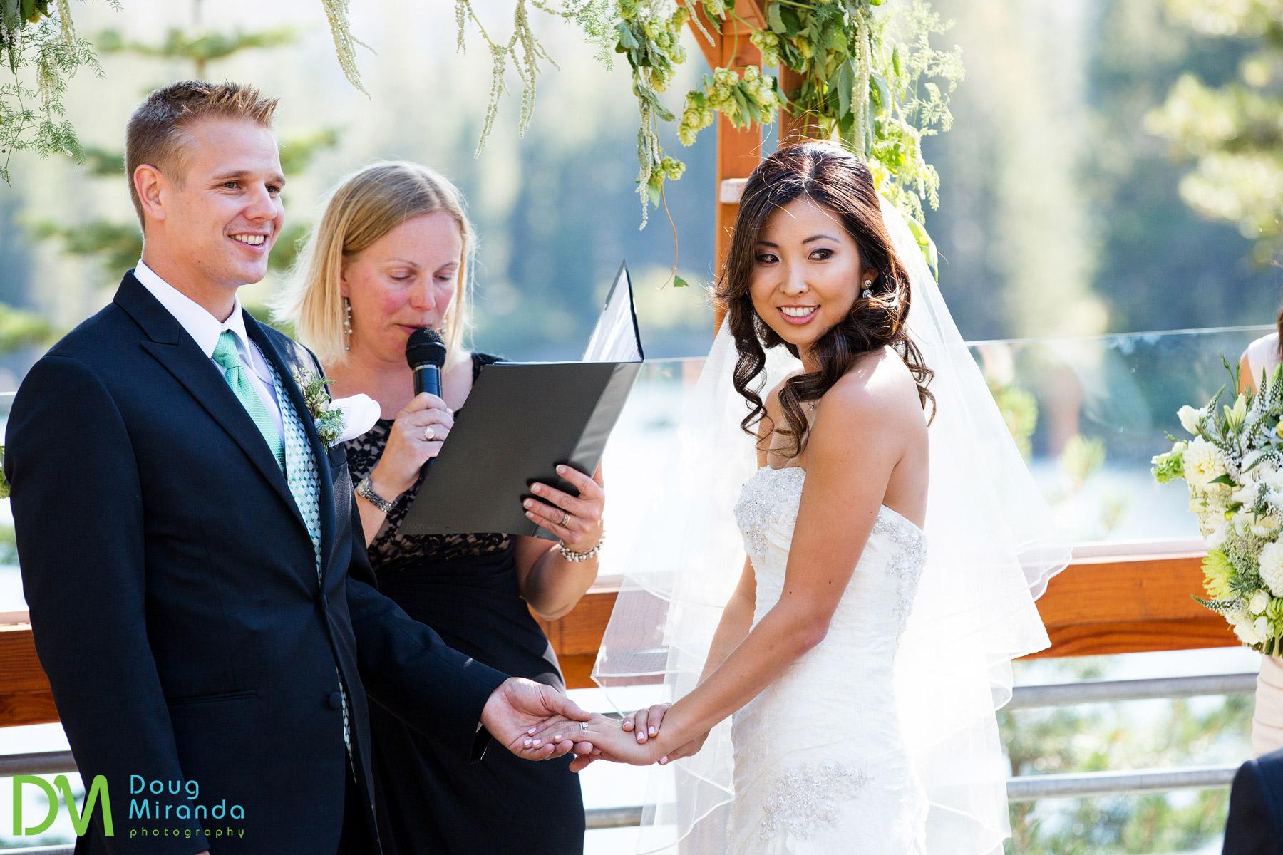 lake mary wedding ceremony at sugar bowl