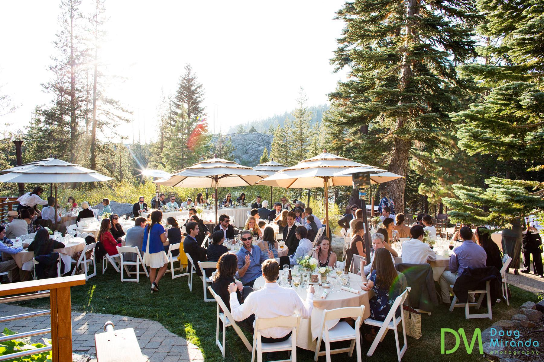 The wedding reception site at Lake Mary Sugar Bowl.