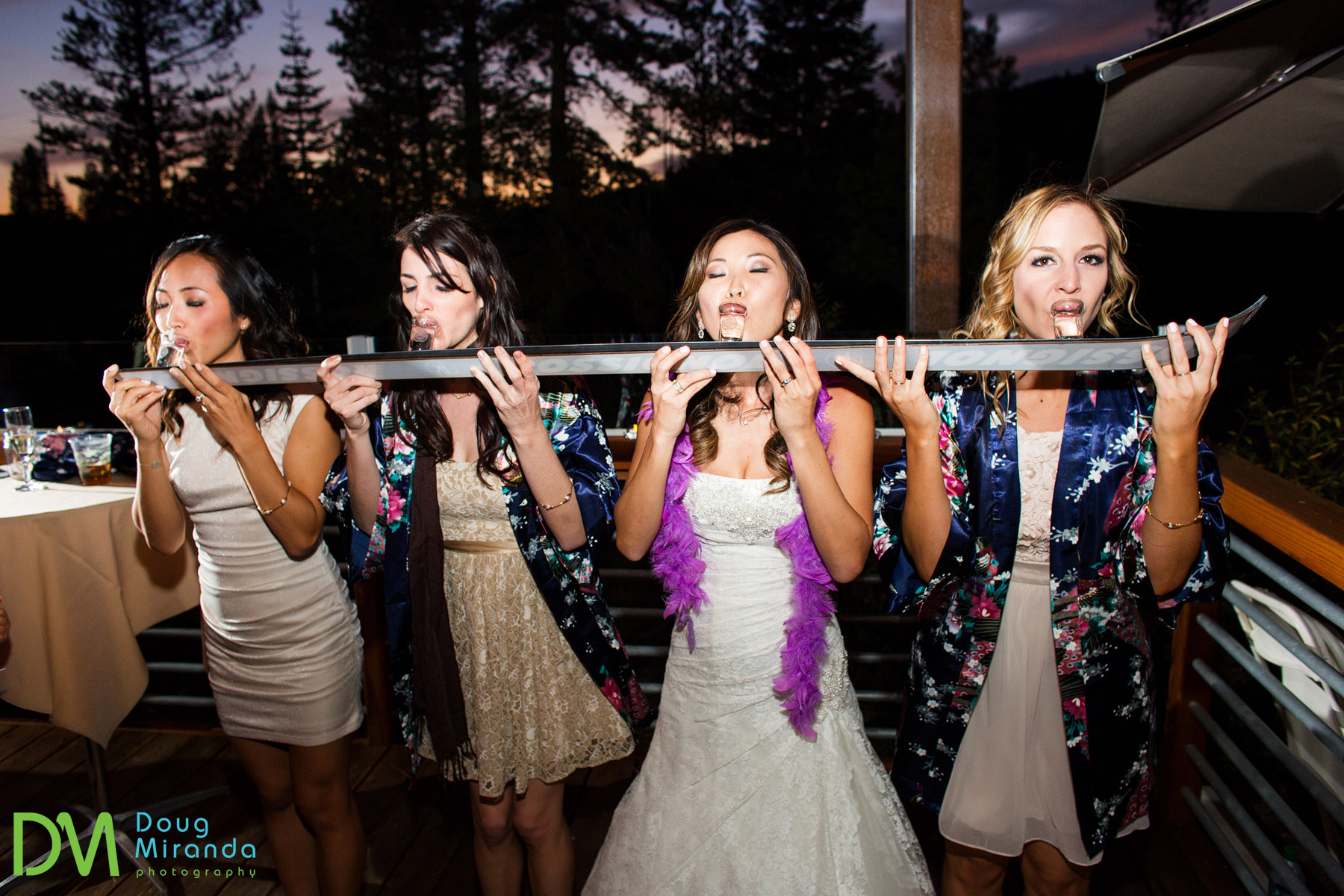 Nick's father made these shot ski's for the wedding and they were used throughout the night.