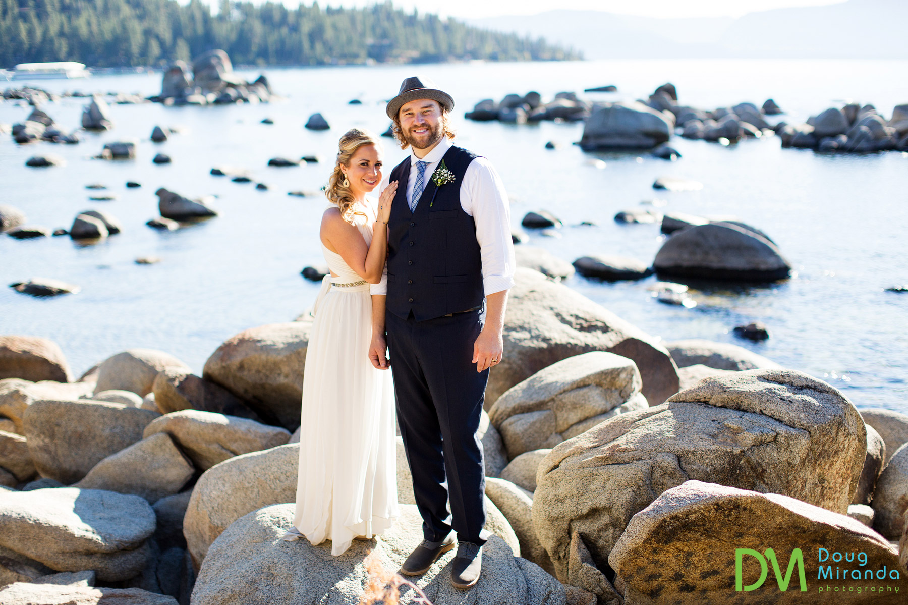 Lake Tahoe just looked incredible on their wedding day.