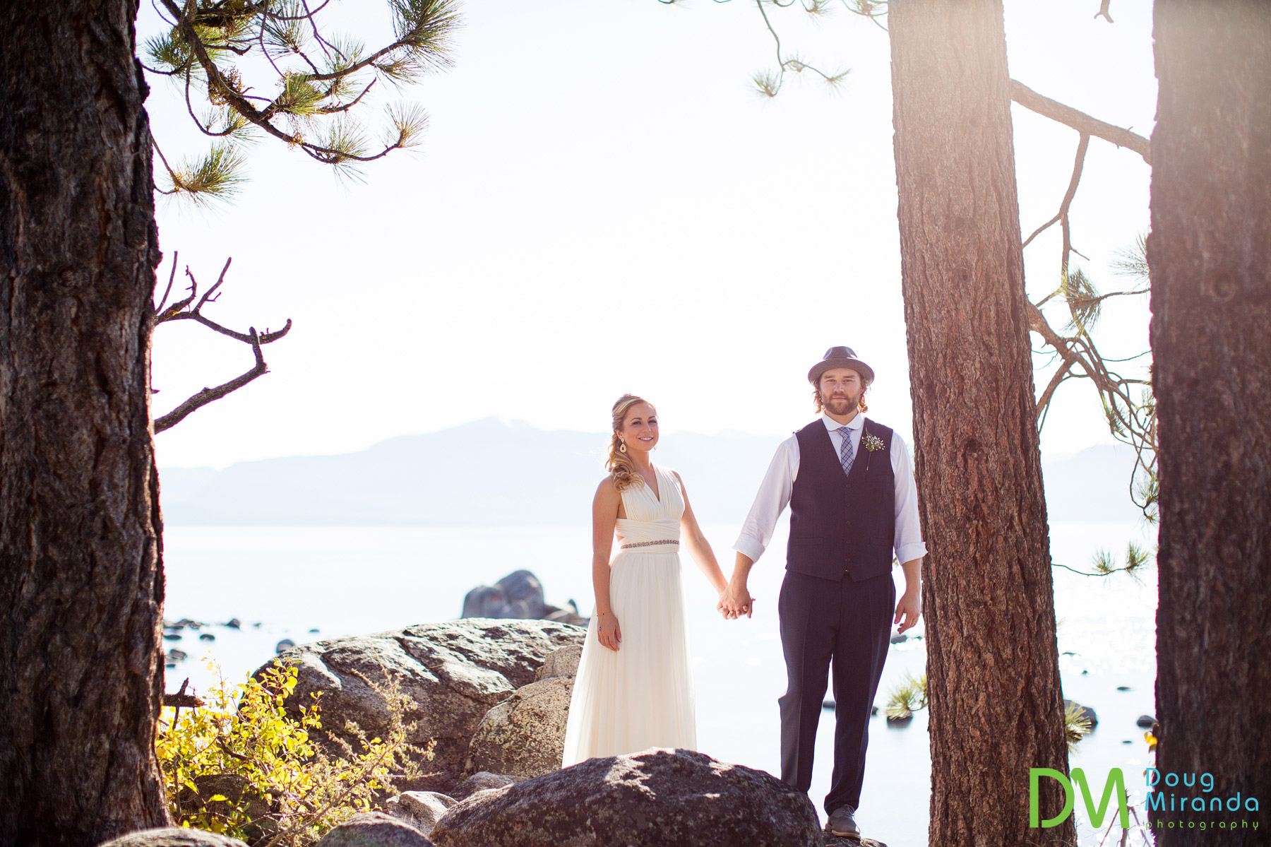 cave rock lake tahoe wedding photography.