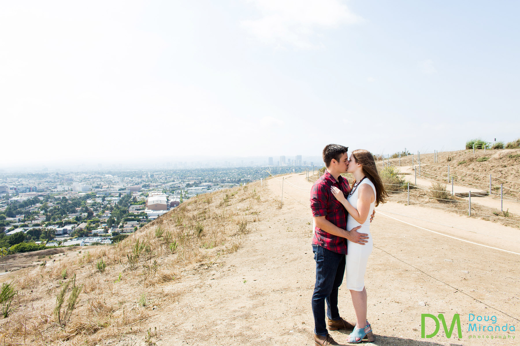 baldwin hills overlook engagement photography