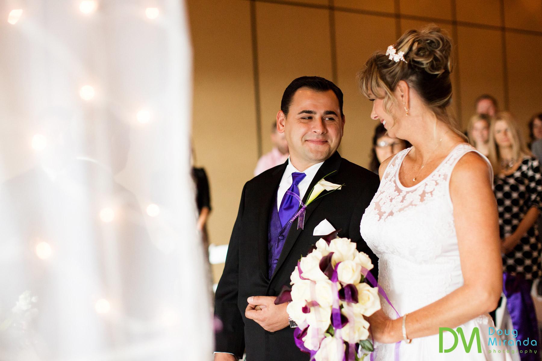 Hyatt Regency winter wedding ceremony lake tahoe